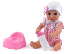 Dolls World 30cm baby dribbles drink and wet doll