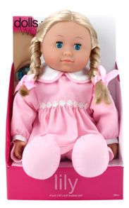 Dolls World 41cm soft bodied doll lily