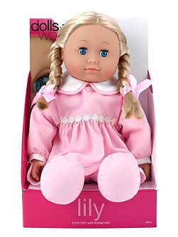 41cm soft bodied doll lily