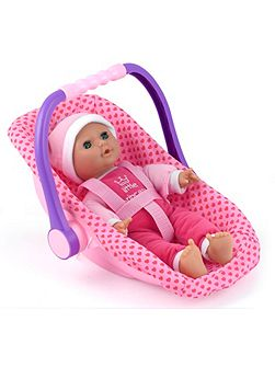 Isabella 30cm Soft Doll & Car Seat