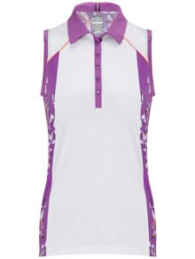 Ava sleeveless polo
