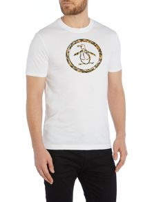 Original Penguin Camo Circle logo print t shirt