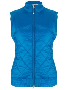 Full zip quilted gilet