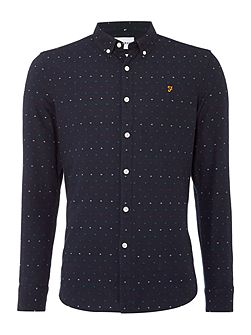 Men's Farah Garfield regular fit dobby oxford shirt
