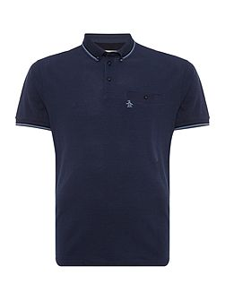 Birdseye falcon polo with pocket detail