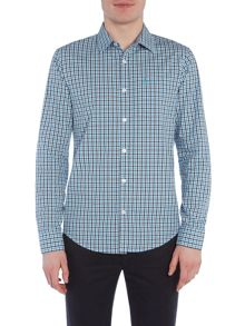 Original Penguin Long sleeve dobby tri colour gingham shirt