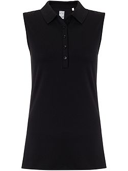 Chev Solid Sleeveless Polo