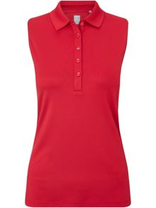 Callaway Chev Solid Sleeveless Polo