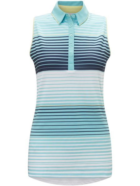 Callaway 3 Colour Stripe Sleeveless Polo