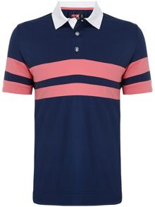 Callaway Rugby chest stripe polo