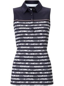 Callaway Lace Stripe Sleeveless Polo