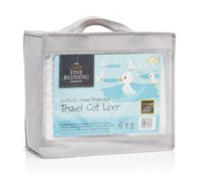 The Junior Fine Bedding Company Travel cot liner 97cm x 66cm