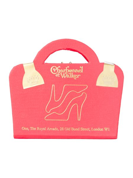 Charbonnel et Walker Handbag box & Milk Chocolate Shoes in Pink Box