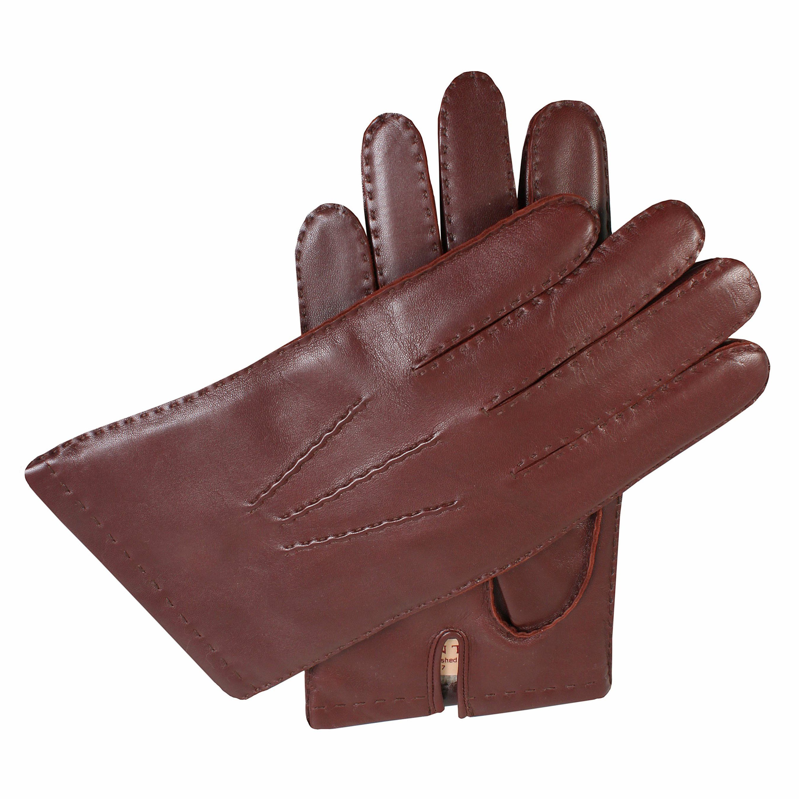 Dents Dents Mens leather glove with cashmere lining, Tan