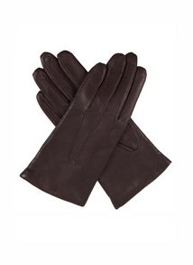 Ladies classic smooth leather gloves