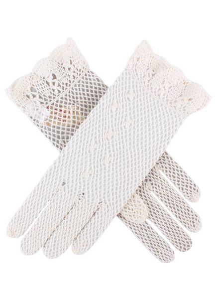 Dents Ladies cotton crochet gloves