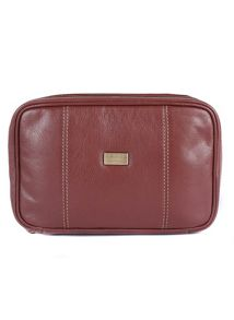 Dents Leather wash bag