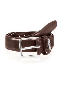 Dents Mens plain leather belt