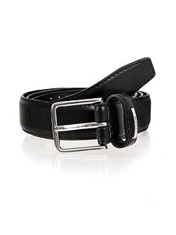 Mens plain leather belt
