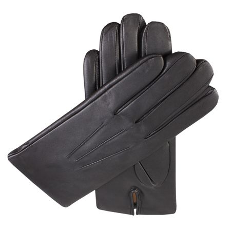 Dents Mens cashmere lined leather gloves
