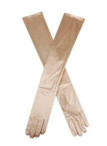 Dents Ladies 16BL plain satin evening glove