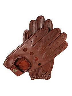 Mens classic leather driving gloves