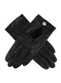 Ladies lambskin leather driving glove