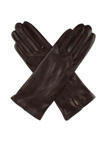 Ladies silk lined leather gloves