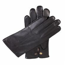 Dents Mens leather gloves with wool lining