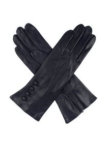 Dents Ladies leather gloves, 4 bl,  with silk lining
