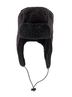 Mens fleece trapper hat