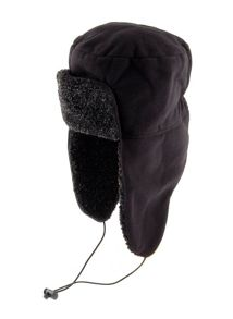 Dents Mens fleece trapper hat