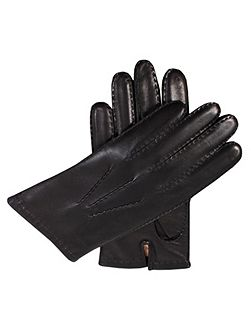Mens leather glove with cashmere lining