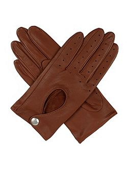 Women`s leather driving gloves