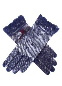 Ladies cotton crochet gloves