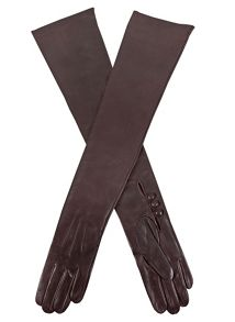 Musketeer palm long leather glove