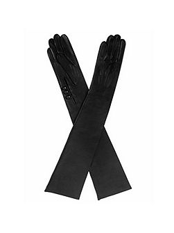 Ladies musketeer palm long leather gloves