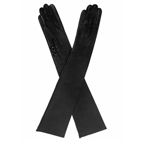 Dents Ladies musketeer palm long leather gloves