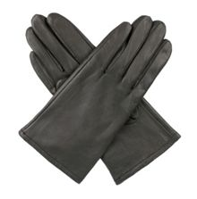 Ladies classic leather fleece lined gloves