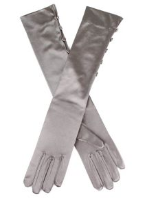 Dents Satin evening glove with 5 buttons