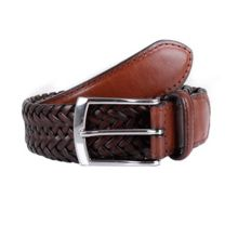 Dents Mens plaited leather belt