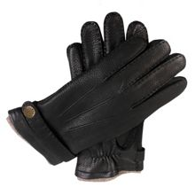 Dents Mens deerskin glove with cashmere