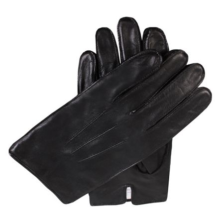Dents Mens leather gloves with fleece lining