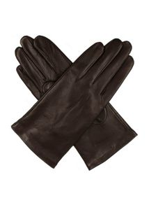 Dents Ladies Plain Leather Gloves Lined Fleece