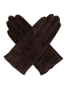 Ladies classic pig suede glove