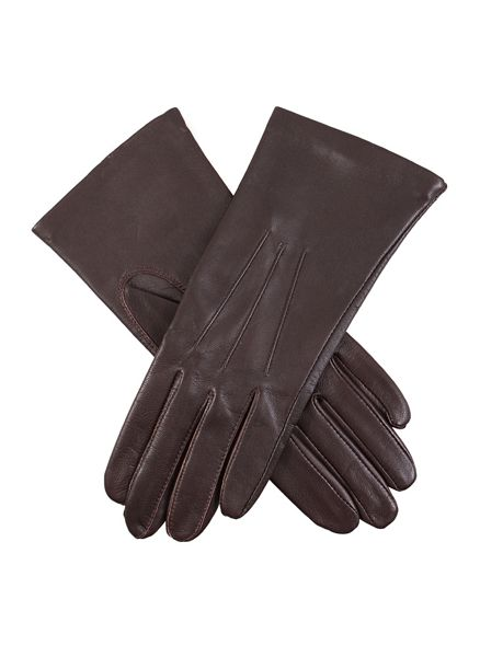 Dents Ladies classic leather glove with silk lining