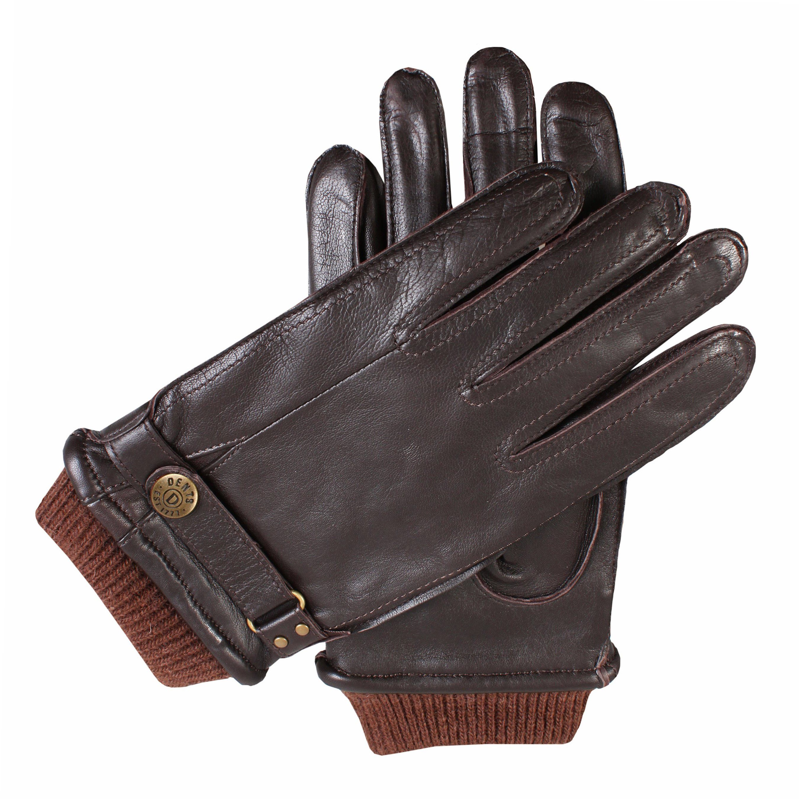 Dents Dents Mens casual leather gloves, Brown