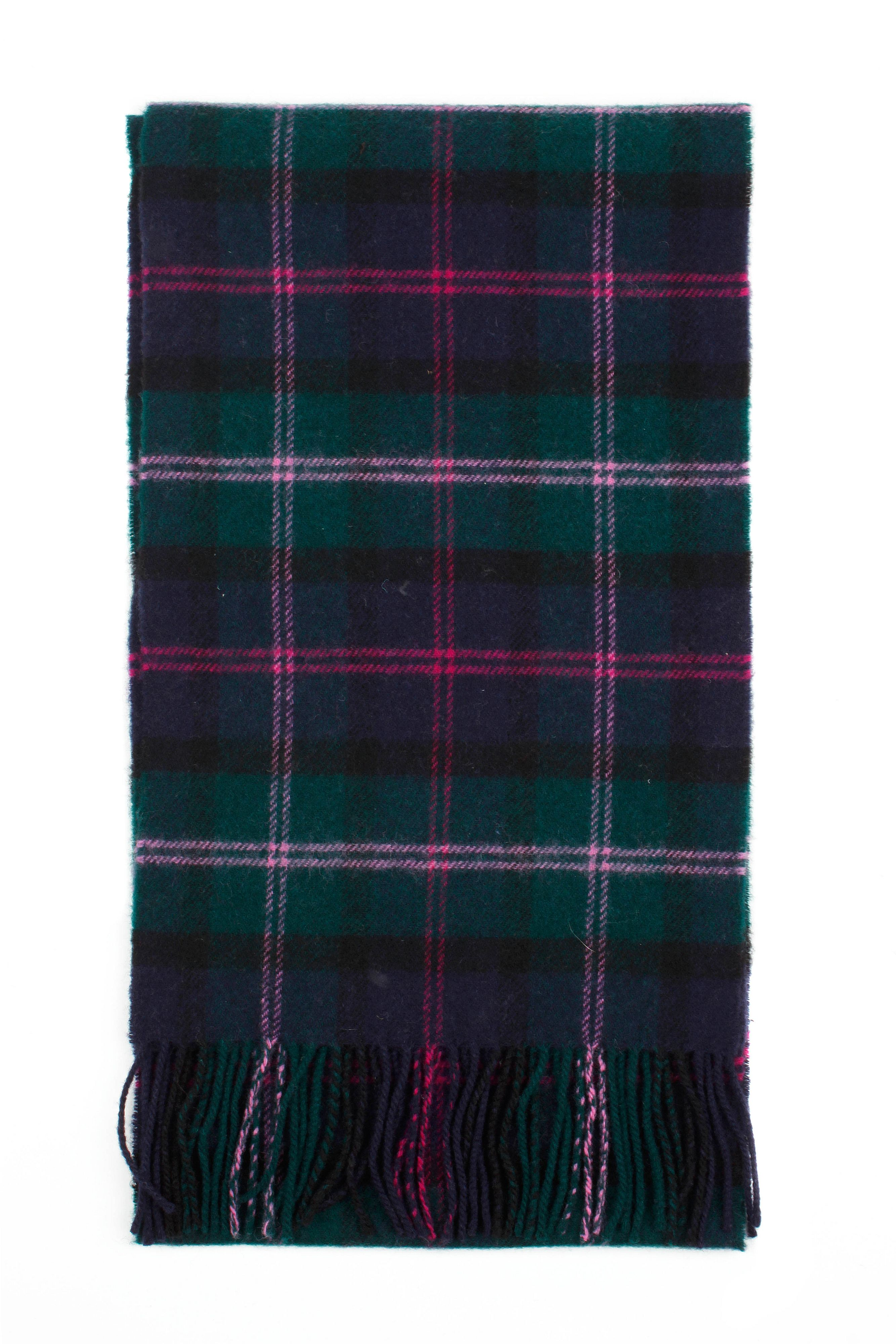 Mens check lambswool scarf