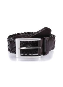 Dents Mens Plaited belt