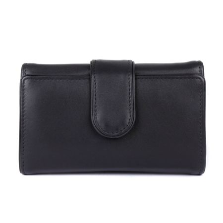 Dents Ladies piped edge flap over tab purse
